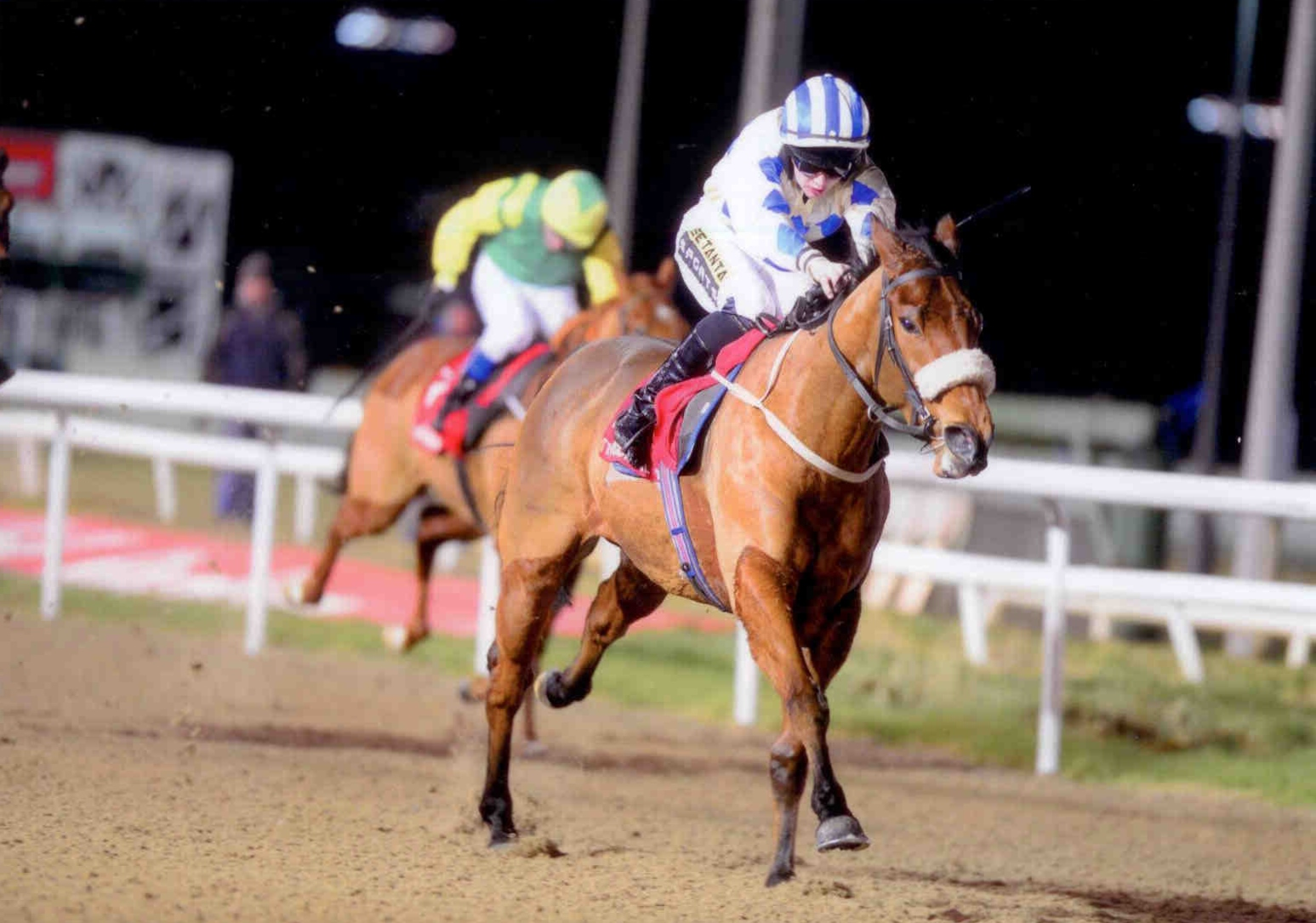 THIRTEEN DIAMONDS enjoys the step up in trip at Dundalk on January 16th 2015