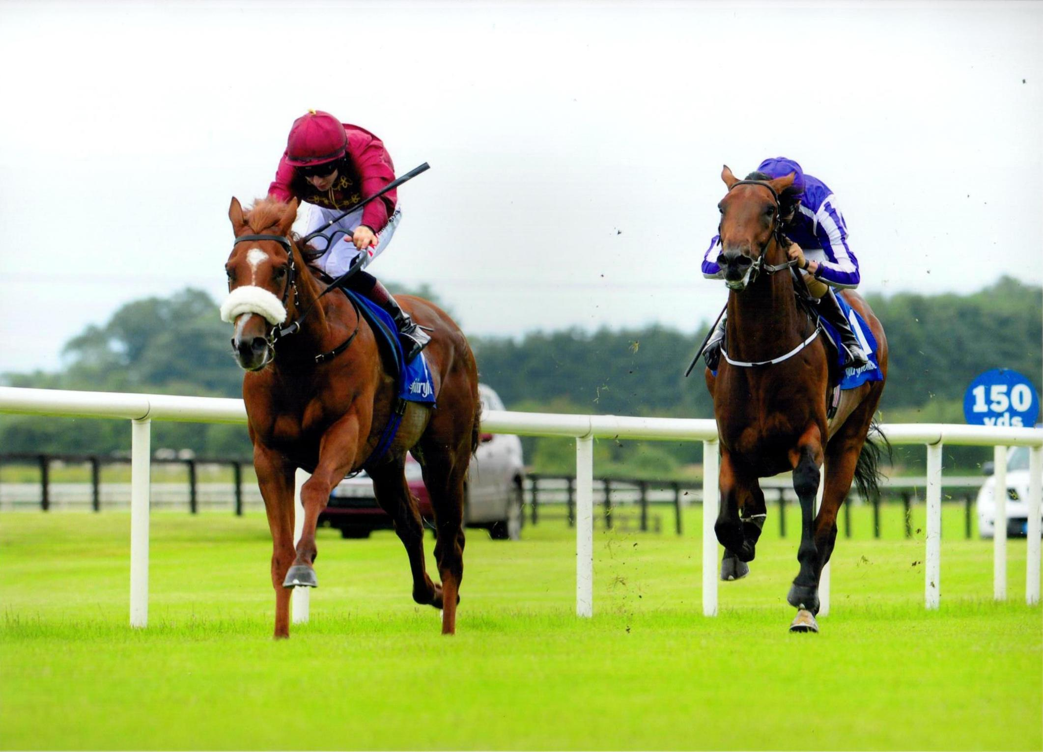 LUSTROUS LIGHT completes a treble on the card in fine style at Fairyhouse 10th July 2016