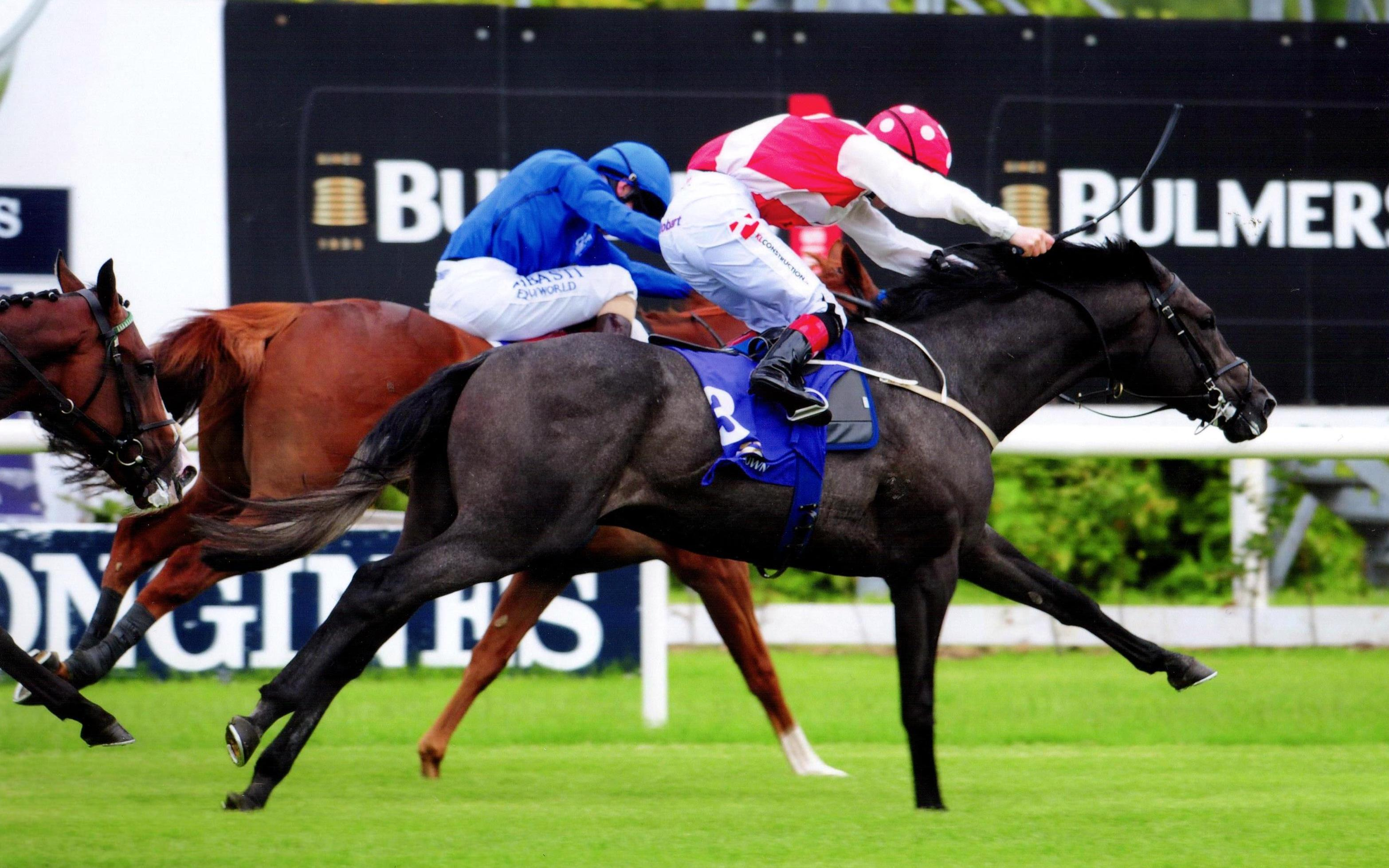 LETHAL STEPS shows his gears at Leopardstown for owner Jimmy Murphy Leopardstown 16th June 2017