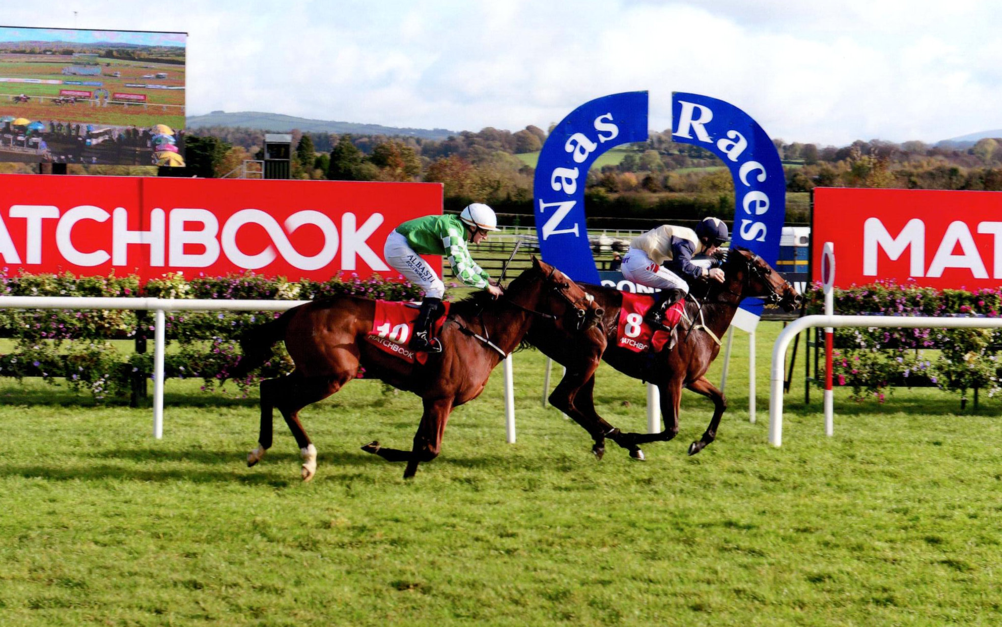 CHICAGO MAY lands the Birdcatcher Premier Nursery at Naas for Newtown Anner Stud, 21st Oct. 2018