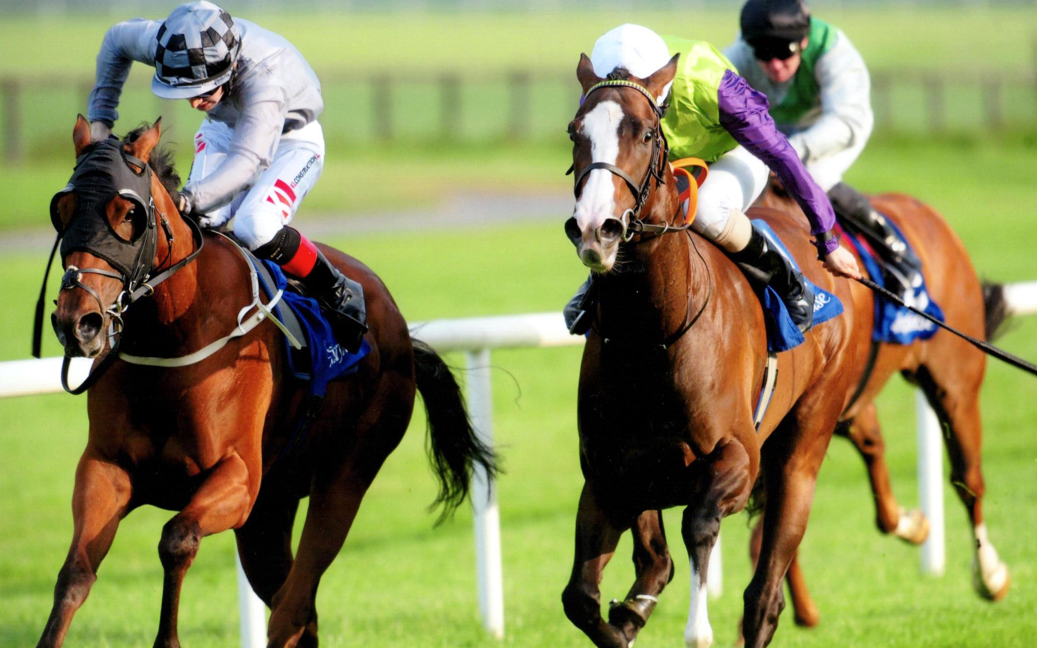 ELEGANT DRAMA makes it a treble on the night in the Irish Stallion Farms EBF M'dn at Fairyhouse, 31s