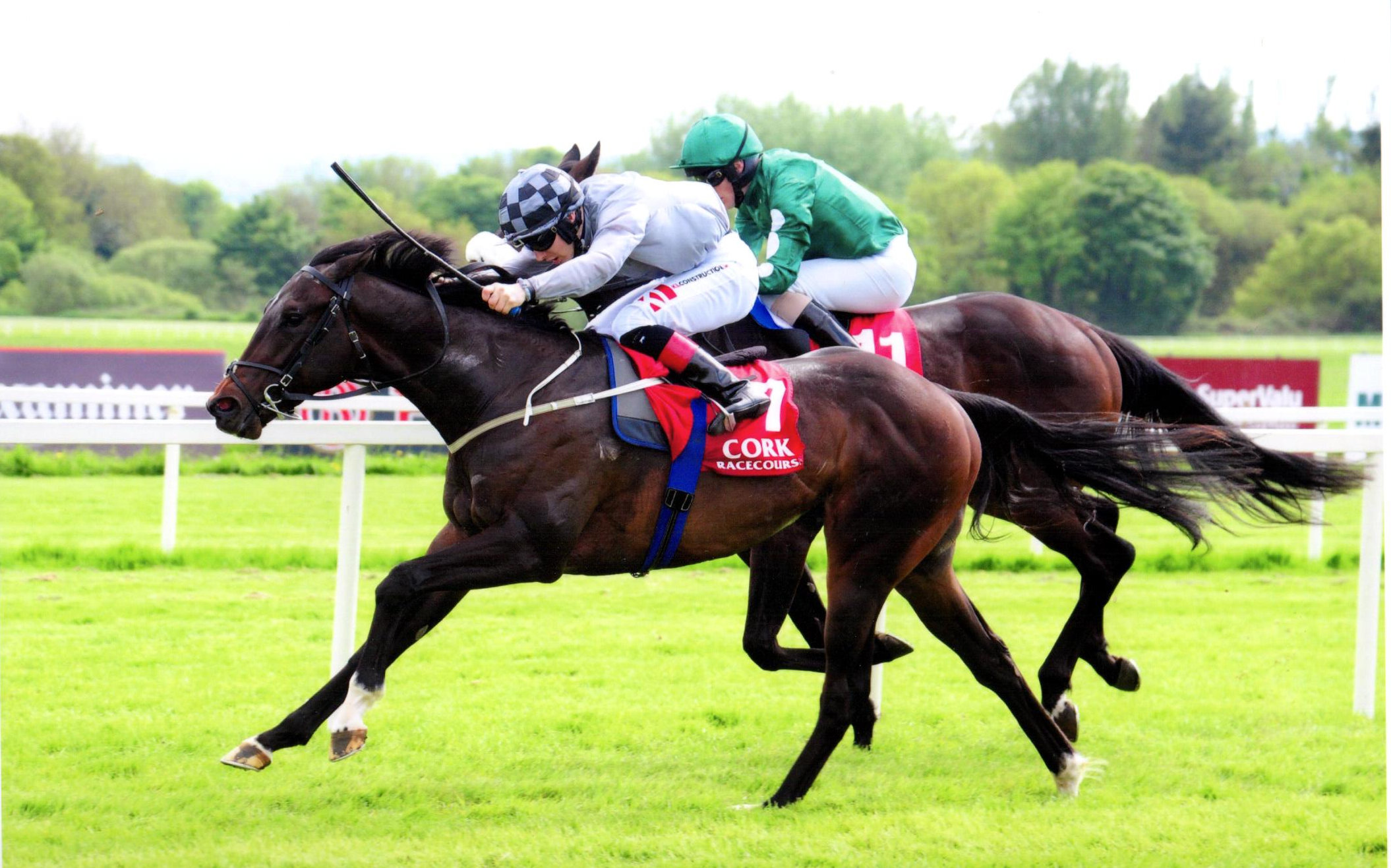INVASION DAY is driven home under Colin Keane to win his maiden Cork, 18th May 18