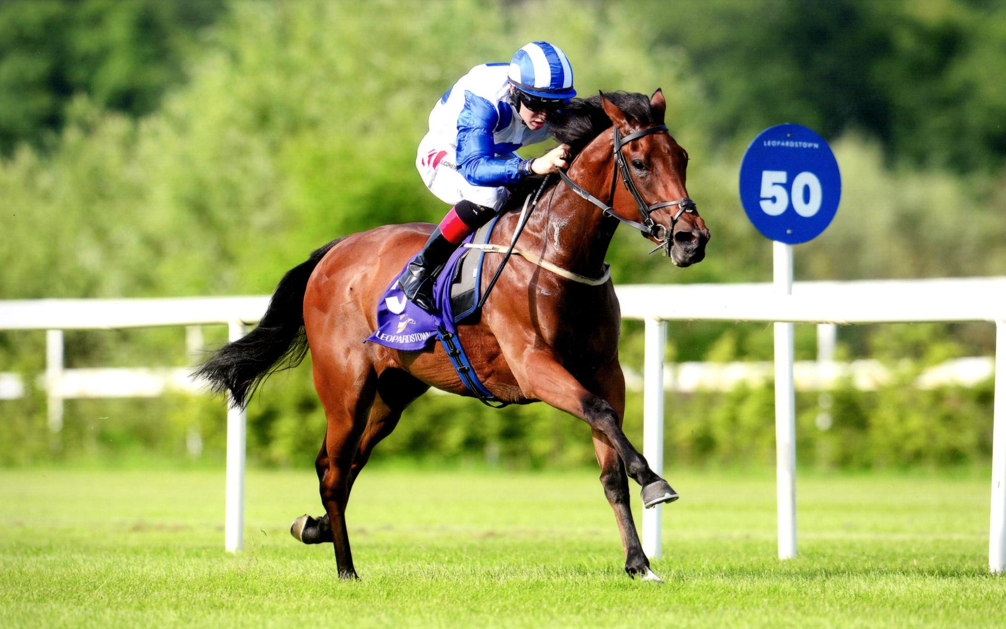 MORAVIA wins the opening Irish Stallion Farms EBF Maiden - Leopardstown, 7th July 2018