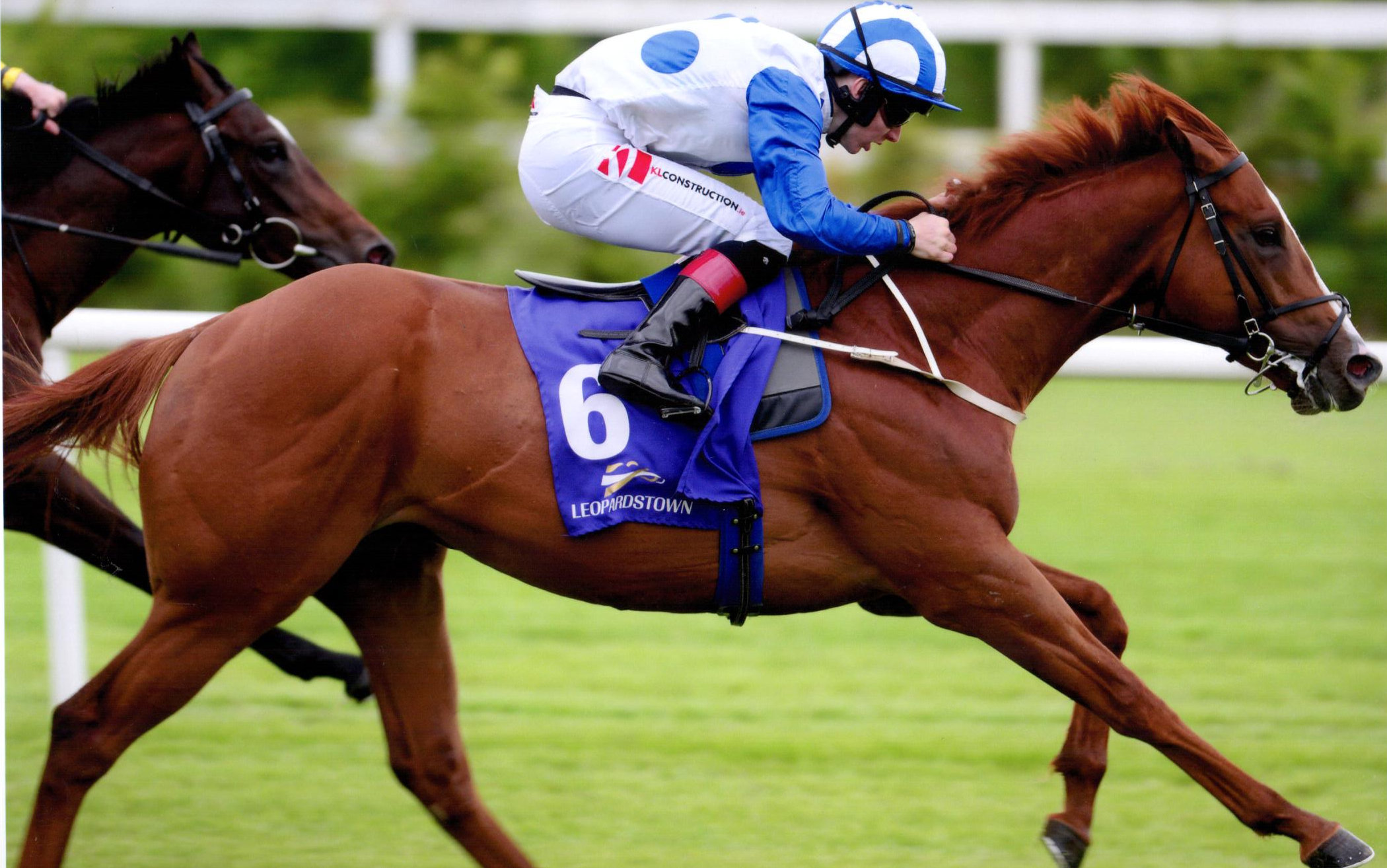 JUSTIFIER wins first time out over 7 furlongs at Leopardstown, 13th June 2019